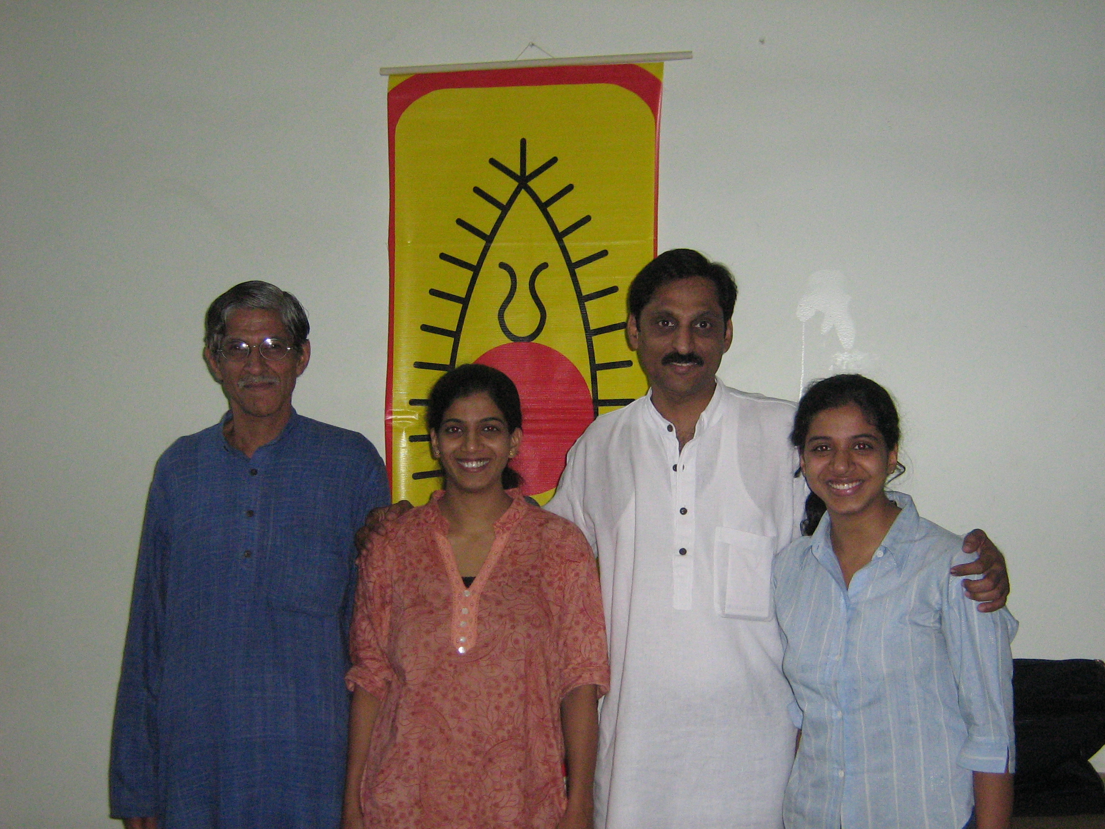 From left to right: Dr Kiran Seth, Kasturi, Shirish, Gargi